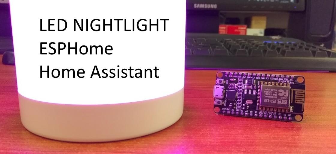 Ночник за 10$ — добавляем ESPHome для управления в Home Assistant
